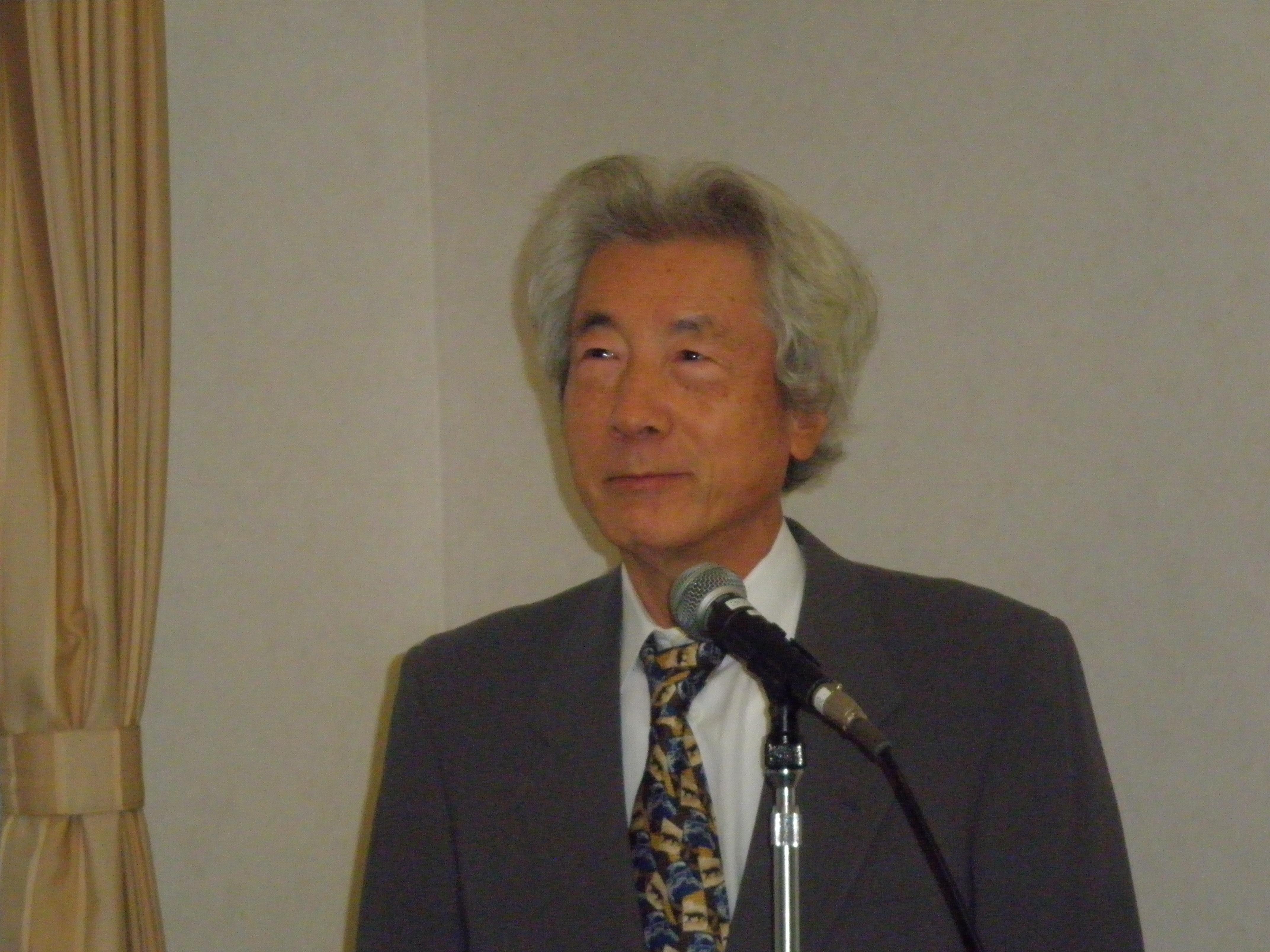 小泉純一郎元首相 「直ちに原発ゼロを」~エシカル朝食会で講演